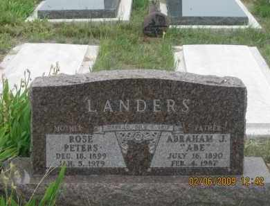 "LANDERS, ABRAHAM J.      ""ABE"" - Fall River County, South Dakota 