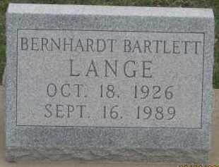 LANGE, BERNHARDT  BARTLETT - Fall River County, South Dakota | BERNHARDT  BARTLETT LANGE - South Dakota Gravestone Photos