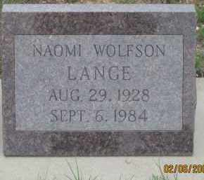 LANGE, NAOMI - Fall River County, South Dakota | NAOMI LANGE - South Dakota Gravestone Photos