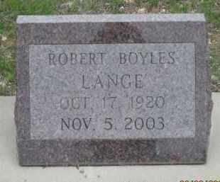 LANGE, ROBERT  BOYLES - Fall River County, South Dakota | ROBERT  BOYLES LANGE - South Dakota Gravestone Photos
