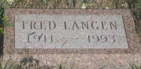 LANGEN, FRED - Fall River County, South Dakota | FRED LANGEN - South Dakota Gravestone Photos