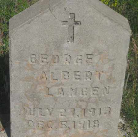 LANGEN, GEORGE ALBERT - Fall River County, South Dakota | GEORGE ALBERT LANGEN - South Dakota Gravestone Photos