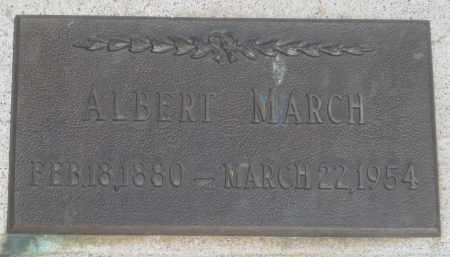 MARCH, ALBERT - Fall River County, South Dakota | ALBERT MARCH - South Dakota Gravestone Photos