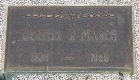 MARCH, BERTHA  P. - Fall River County, South Dakota | BERTHA  P. MARCH - South Dakota Gravestone Photos