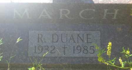 MARCH, R. DUANE - Fall River County, South Dakota | R. DUANE MARCH - South Dakota Gravestone Photos