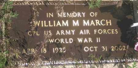 MARCH, WILLIAM  M. - Fall River County, South Dakota | WILLIAM  M. MARCH - South Dakota Gravestone Photos