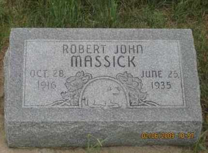 MASSICK, ROBERT JOHN - Fall River County, South Dakota | ROBERT JOHN MASSICK - South Dakota Gravestone Photos