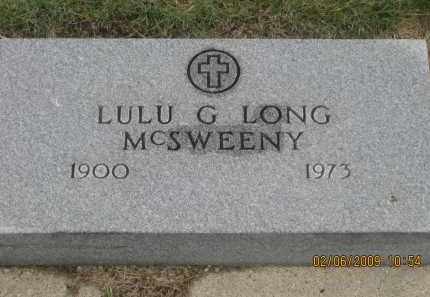 LONG MCSWEENY, LULU G. - Fall River County, South Dakota | LULU G. LONG MCSWEENY - South Dakota Gravestone Photos