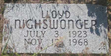 NIGHSWONGER, LLOYD - Fall River County, South Dakota | LLOYD NIGHSWONGER - South Dakota Gravestone Photos