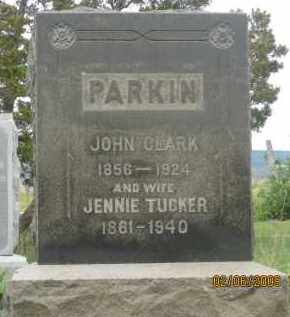 TUCKER PARKIN, JENNIE - Fall River County, South Dakota | JENNIE TUCKER PARKIN - South Dakota Gravestone Photos