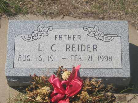 REIDER, L. C. - Fall River County, South Dakota | L. C. REIDER - South Dakota Gravestone Photos