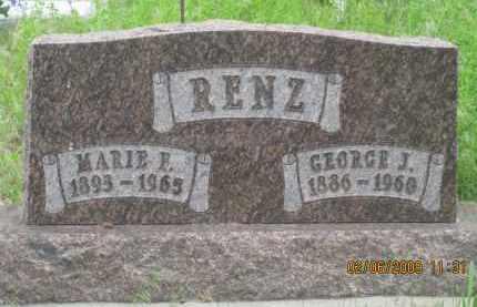 RENZ, MARIE F. - Fall River County, South Dakota | MARIE F. RENZ - South Dakota Gravestone Photos