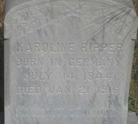 RIPPER, KAROLINE - Fall River County, South Dakota | KAROLINE RIPPER - South Dakota Gravestone Photos