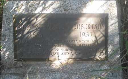 ROBERTSON, JOHN STEVENSON - Fall River County, South Dakota   JOHN STEVENSON ROBERTSON - South Dakota Gravestone Photos