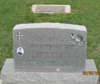 "ROSSKNECHT, A. F.   ""FRITZ"" - Fall River County, South Dakota 