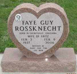 GUY ROSSKNECHT, FAYE - Fall River County, South Dakota | FAYE GUY ROSSKNECHT - South Dakota Gravestone Photos