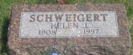 SCWEIGERT, HELEN  J. - Fall River County, South Dakota | HELEN  J. SCWEIGERT - South Dakota Gravestone Photos