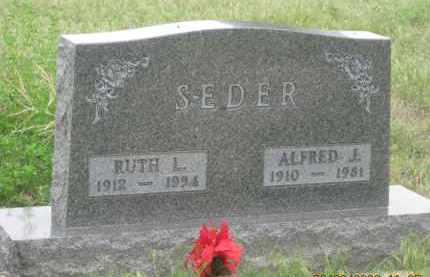 SEDER, RUTH L. - Fall River County, South Dakota | RUTH L. SEDER - South Dakota Gravestone Photos