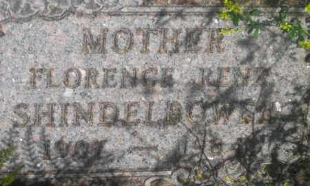 RENZ SHINDELBOWER, FLORENCE - Fall River County, South Dakota | FLORENCE RENZ SHINDELBOWER - South Dakota Gravestone Photos