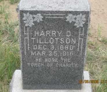 TILLOTSON, HARRY D. - Fall River County, South Dakota   HARRY D. TILLOTSON - South Dakota Gravestone Photos