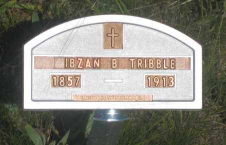 TRIBBLE, IBZAN  B. - Fall River County, South Dakota | IBZAN  B. TRIBBLE - South Dakota Gravestone Photos