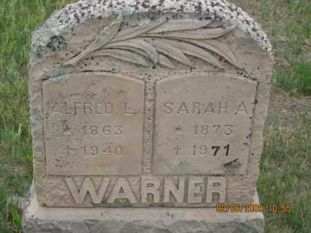 WARNER, SARAH A. - Fall River County, South Dakota | SARAH A. WARNER - South Dakota Gravestone Photos