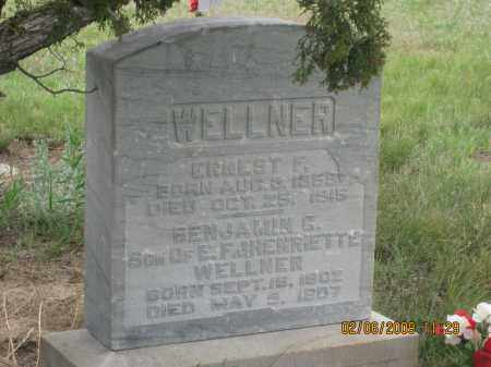 WELLNER, BENJAMIN G. - Fall River County, South Dakota | BENJAMIN G. WELLNER - South Dakota Gravestone Photos