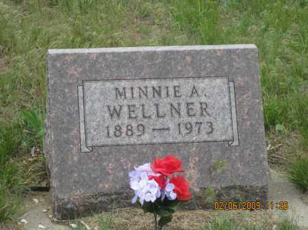 WELLNER, MINNIE  A. - Fall River County, South Dakota | MINNIE  A. WELLNER - South Dakota Gravestone Photos