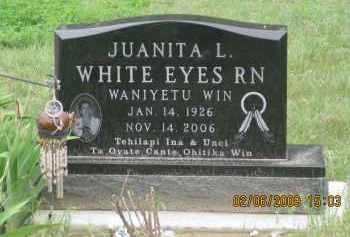 WHITE EYES, JUANITA  L. - Fall River County, South Dakota   JUANITA  L. WHITE EYES - South Dakota Gravestone Photos