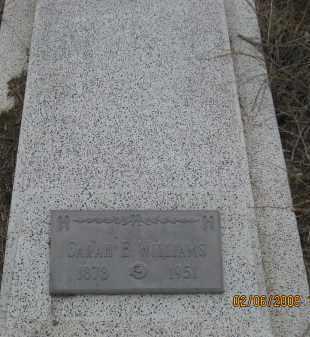WILLIAMS, SARAH E. - Fall River County, South Dakota   SARAH E. WILLIAMS - South Dakota Gravestone Photos