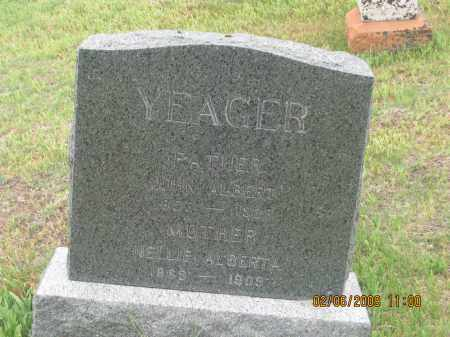 YEAGER, NELLIE ALBERTA - Fall River County, South Dakota | NELLIE ALBERTA YEAGER - South Dakota Gravestone Photos