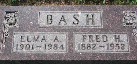 BASH, FRED H. - Gregory County, South Dakota | FRED H. BASH - South Dakota Gravestone Photos