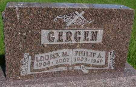 GERGEN, LOUISE M. - Gregory County, South Dakota | LOUISE M. GERGEN - South Dakota Gravestone Photos