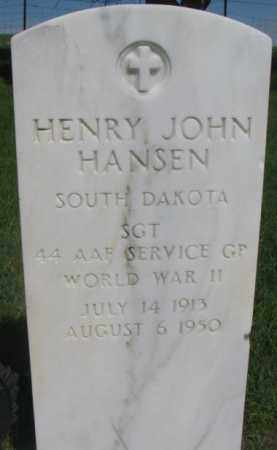 HANSEN, HENRY JOHN - Gregory County, South Dakota | HENRY JOHN HANSEN - South Dakota Gravestone Photos