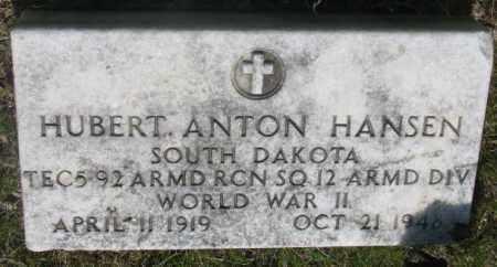 HANSEN, HUBERT ANTON - Gregory County, South Dakota | HUBERT ANTON HANSEN - South Dakota Gravestone Photos