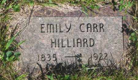CARR HILLIARD, EMILY - Gregory County, South Dakota | EMILY CARR HILLIARD - South Dakota Gravestone Photos