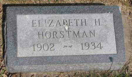 HORSTMAN, ELIZABETH H. - Gregory County, South Dakota | ELIZABETH H. HORSTMAN - South Dakota Gravestone Photos