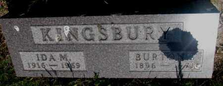 KINGSBURY, BURTON J. - Gregory County, South Dakota   BURTON J. KINGSBURY - South Dakota Gravestone Photos