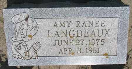 LANGDEAUX, AMY RANEE - Gregory County, South Dakota | AMY RANEE LANGDEAUX - South Dakota Gravestone Photos