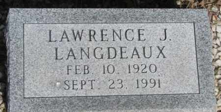 LANGDEAUX, LAWRENCE J. - Gregory County, South Dakota | LAWRENCE J. LANGDEAUX - South Dakota Gravestone Photos