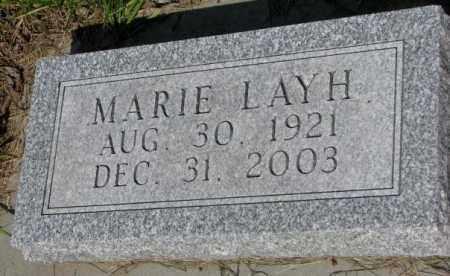 LAYH, MARIE - Gregory County, South Dakota | MARIE LAYH - South Dakota Gravestone Photos