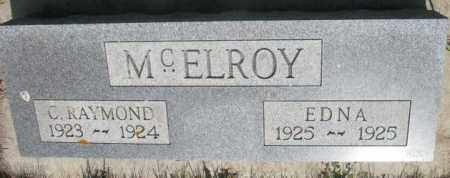 MCELROY, EDNA - Gregory County, South Dakota | EDNA MCELROY - South Dakota Gravestone Photos