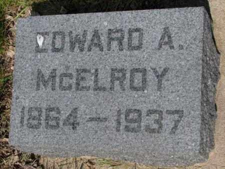 MCELROY, EDWARD A. - Gregory County, South Dakota | EDWARD A. MCELROY - South Dakota Gravestone Photos