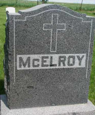 MCELROY, FAMILY PLOT MARKER - Gregory County, South Dakota | FAMILY PLOT MARKER MCELROY - South Dakota Gravestone Photos