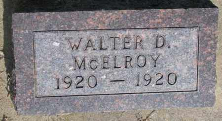 MCELROY, WALTER D. - Gregory County, South Dakota | WALTER D. MCELROY - South Dakota Gravestone Photos