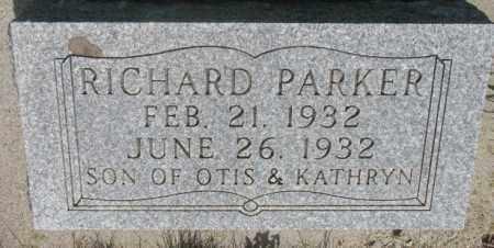 PARKER, RICHARD - Gregory County, South Dakota | RICHARD PARKER - South Dakota Gravestone Photos