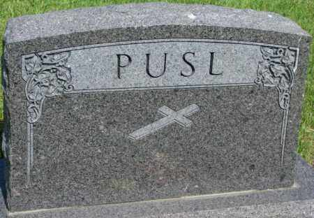 PUSL, FAMILY PLOT MARKER - Gregory County, South Dakota | FAMILY PLOT MARKER PUSL - South Dakota Gravestone Photos