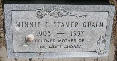 STAMER QUALM, MINNIE C. - Gregory County, South Dakota | MINNIE C. STAMER QUALM - South Dakota Gravestone Photos