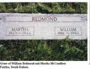 MCCANDLESS REDMOND, MARTHA - Gregory County, South Dakota | MARTHA MCCANDLESS REDMOND - South Dakota Gravestone Photos