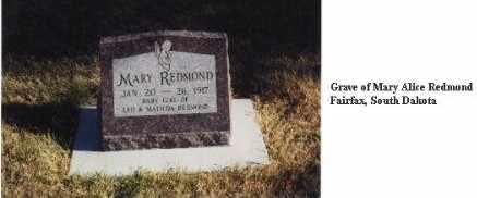 REDMOND, MARY ALICE - Gregory County, South Dakota | MARY ALICE REDMOND - South Dakota Gravestone Photos